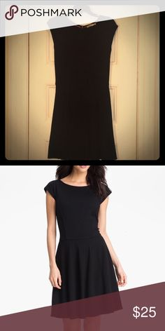 Eliza J Princess Seamed Fit-and-Flare Dress Cute LBD for every occasion. It's pretty fitted indeed, but getting the waistline taken in a little more wouldn't hurt either. Eliza J Dresses Midi