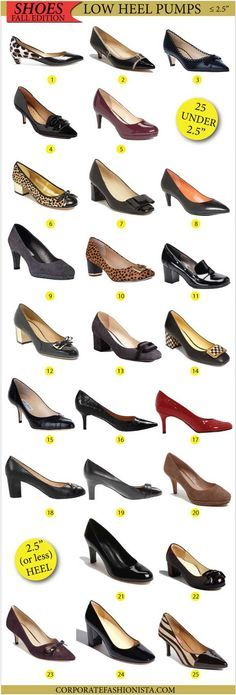 Be Fashionably Practical: 25 Classy Pumps With Heels Two And A Half Inches Or Less #shoes #fashion via Corporate Fashionista