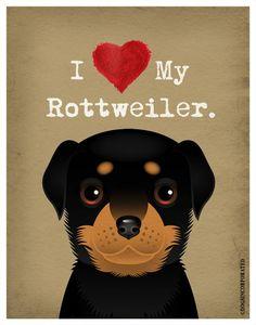 I Love My Rottweiler  I Heart My Rottweiler  I by DogsIncorporated, $20.00