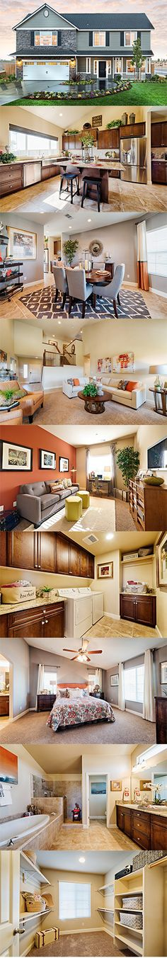 From the charming shuttered windows to the expansive front porch, the Georgetown from @lennarcentralca exudes curb appeal. It will feel like home the minute you walk in. There's a lovely dining room off the entry adjacent to the masterfully crafted gourmet kitchen which opens to the great room. And with 5 bedrooms and 3 bathrooms, there's plenty of room for the whole family!