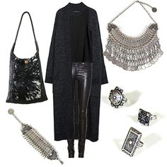 Necklace, bracelet, rings and bag. www.myla.es