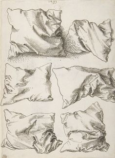 Six Pillows (verso), 1493.  Albrecht Dürer