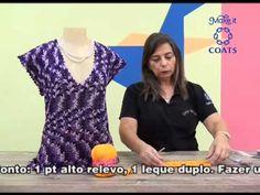 blusa Cristiane em croche com Camila fashion - YouTube