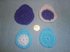 Crochet Pattern for Easter Egg Decorations