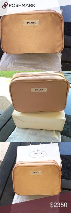 Extra pics of Prada Blush colored makeup bag Do not buy Prada Bags Cosmetic Bags & Cases