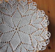 Crochet doily, grey doilie, napkin handmade craft lace home decor table decoration
