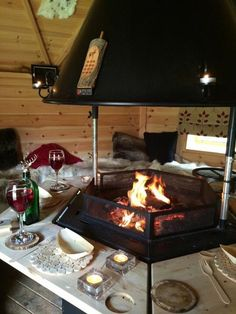 BBQ hut at Viney Hill County House Arctic Cabins, Bbq Hut, Louise Jones, House Built, Bbq Grill, Scandinavian Style, Yurts, Outdoor Decor, Cabin Ideas