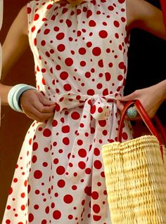 I don't care for red or polka dots but this is just too cute to pass up. My goodness!