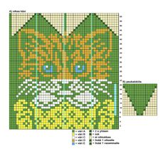 kuva Crochet Gloves, Knit Mittens, Mitten Gloves, Knitting Socks, Knitting Charts, Knitting Patterns, Fair Isle Knitting, Cat Crafts, Double Knitting