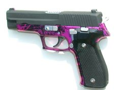 Sig Sauer P226 With Pink & Black Annodized Frame