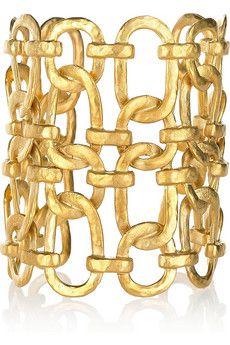 Kenneth Jay Lane linked chain cuff