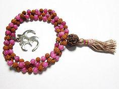 Stone of Dreams- Pink Jade Rudraksha Yoga Prayer Beads Japa Mala 108+1 Om Pendant Mogul Interior http://www.amazon.com/dp/B00PFLQJZ4/ref=cm_sw_r_pi_dp_X1bzub0DT6594
