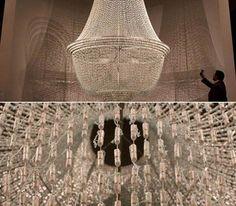 Tampon chandelier ... really?  Have we no shame??? Some things just don't need to be repurposed!
