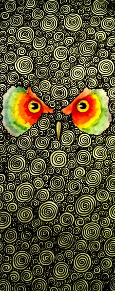 owl face (artist unknown)