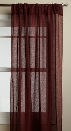 Lorraine Home Fashions Reverie 60inch x 63inch Tailored Panel Burgundy >>> Details can be found by clicking on the image.