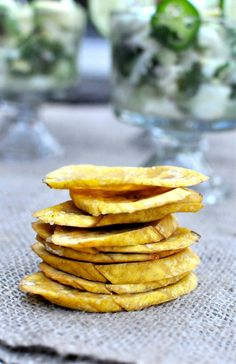 Paleo baked plantain chips