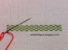 artisticfingers: Stitch tutorial - Fancy laced running stitch # 2