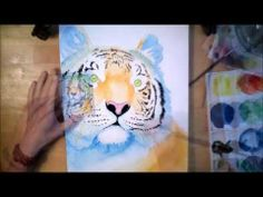 The Tiger watercolor painting process time lapse - YouTube