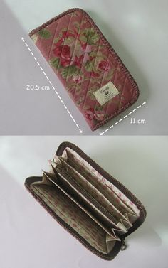 Suratnee Maneesang's media content and analytics Sew Wallet, Fabric Wallet, Wallet Sewing Pattern, Sewing Patterns, Best Purses, Wallet Tutorial, Beautiful Bags, Bag Making, Purses And Bags