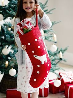 Red Felt Stocking | Cox & Cox