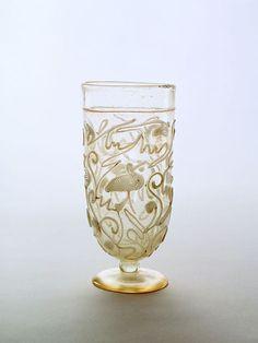 (c. 175-200 CE) Roman Glass Snake-thread Goblet