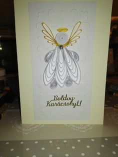 Angel 2. postcard 2017 quilling and embossing