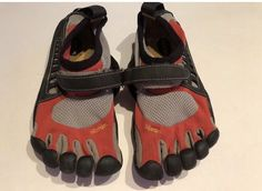 Kids vibram size jr 32 five finger shoes. Finger Shoes, Red And Grey, Sneakers, Kids, Ebay, Fashion, Trainers, Moda, Children