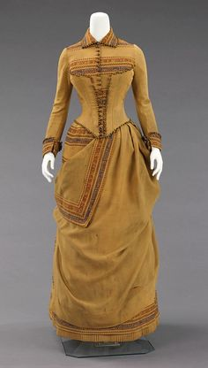 Ensemble ca. 1885  From the Metropolitan Museum of Art (back view through source-link) #victorian