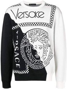 a534b04d Versace Two Tone Sweater - Farfetch