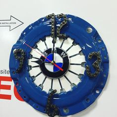 Garage Tool Storage, Garage Tools, Car Parts Decor, Car Part Furniture, Bmw 2, Metal Art Projects, Cars And Motorcycles, Metal Working, Clock