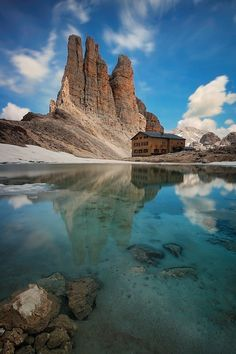 Los Dolomitas (Italia).
