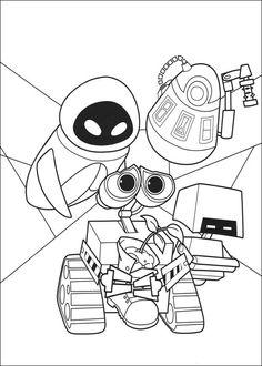 Wall-E Tegninger til Farvelægning. Printbare Farvelægning for børn. Tegninger til udskriv og farve nº 65