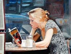 ✉ Biblio Beauties ✉ paintings of women reading letters & books - Arie Azene