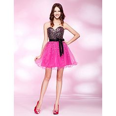 I think this might be a winner. Its my number one so far, what do you think? A-line Sweetheart Short/ Mini Sequined Cocktail/Prom Dress – USD $ 79.19