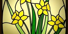 stained glass welsh daffodil - Google Search Welsh Dragon, Daffodils, Stained Glass, Mothers, Google Search, Design, Decor, Art, Art Background