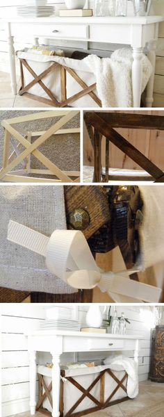 Wood and Canvas Crate | DIY Pottery Barn Decor Knock Offs | DIY Pottery Barn Living Room Ideas on a Budget