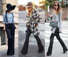 Tendenze moda inverno 2016: pantaloni a zampa