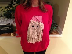 Ugly Christmas sweater idea. Use a mop.
