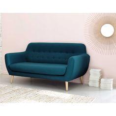 seater fabric vintage sofa in petrol blue Iceberg Vintage Sofa, Retro Sofa, Sofa Skandinavisch, Sofa Set, Home Decor Furniture, Living Room Furniture, Living Room Decor, Living Room Sofa Design, Living Room Designs