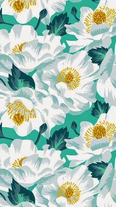 Blue Floral IPad Mini Resolution 768 X 1024