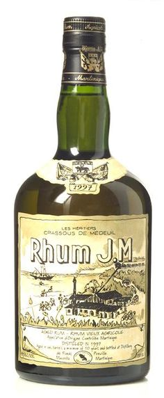 Rhum J.M. Extravagant cornucopia of ripening tropical fruit - mango, overripe bananas, and papaya - and a wild, funky earthiness combine for an aromatic explosion; flavors are intensely rich of fresh sugarcane and tropical fruit.