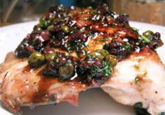 Dinner Tonight: Pan Roasted Chicken with Olives, Capers, and Vermouth