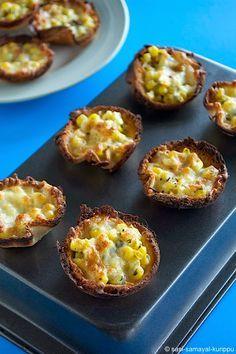 SASI'S KITCHEN: Corn-Mozzarella Bread Cups