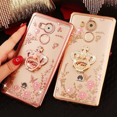 Luxury Rhinestone cover case For Huawei mate8 mate7 P9 P8 Lite P7 P6 Honor 7i 6 6Plus 4 4X 5X fashion diamond phone cases shell