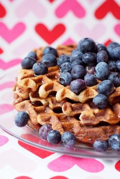 Gluten Free Coconut Flour Waffles covered in blueberries ...YUMMY!!!!