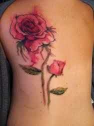 Image result for watercolour rose tattoo