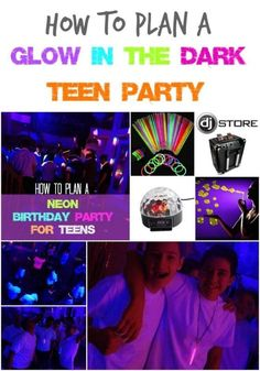 Neon Birthday Party for Teens How to Plan a Glow in the Dark Teen Party - Party for Teens - Dance Party Neon Birthday, 13th Birthday Parties, Birthday Party For Teens, 14th Birthday, Slumber Parties, Birthday Ideas, Dance Party For Kids, Teen Boy Party, Aaliyah Birthday
