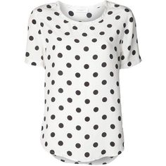 EQUIPMENT 'Riley' polka dot blouse ❤ liked on Polyvore featuring tops, blouses, dot blouse, polka dot blouse and polka dot top