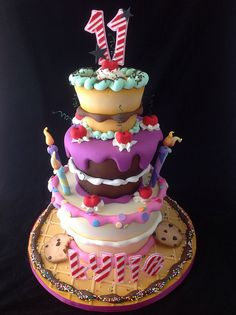 Ultimate Whimsical Cake by Andrea's SweetCakes, via Flickr