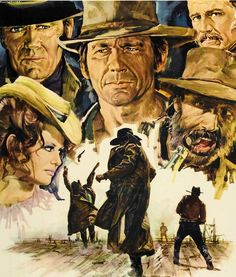 film poster art art from Once Upon A Time In The West Westerns, New Beverly Cinema, Pop Art, Gravure Illustration, Sergio Leone, Acid Art, Charles Bronson, Western Comics, West Art